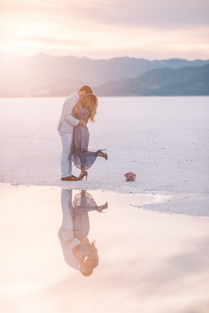 Image 5 of Nathalie and Morgan's Beautiful Proposal at the Salt Flats