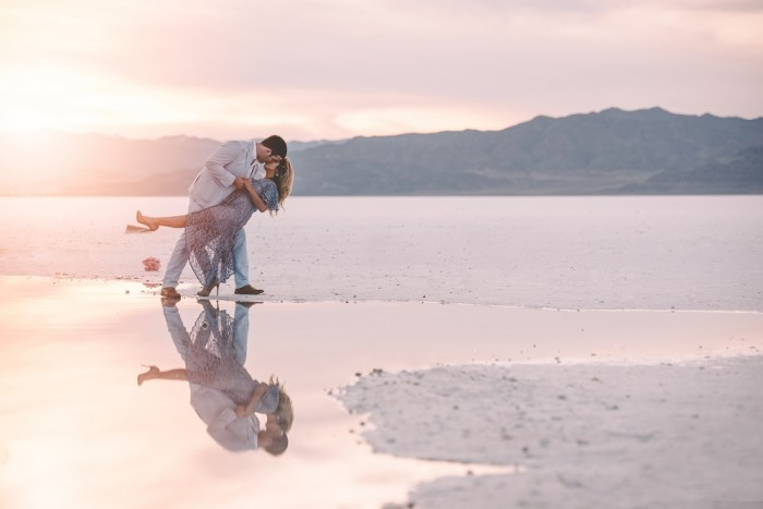 Image 2 of Nathalie and Morgan's Beautiful Proposal at the Salt Flats