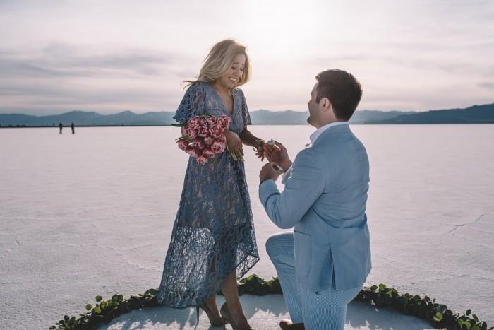 Image 3 of Nathalie and Morgan's Beautiful Proposal at the Salt Flats