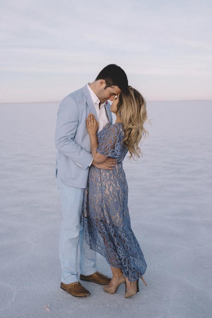 Image 6 of Nathalie and Morgan's Beautiful Proposal at the Salt Flats