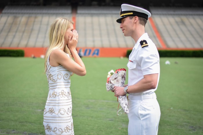 Image 6 of Samantha and Maxwell's Proposal on the UF Football Field