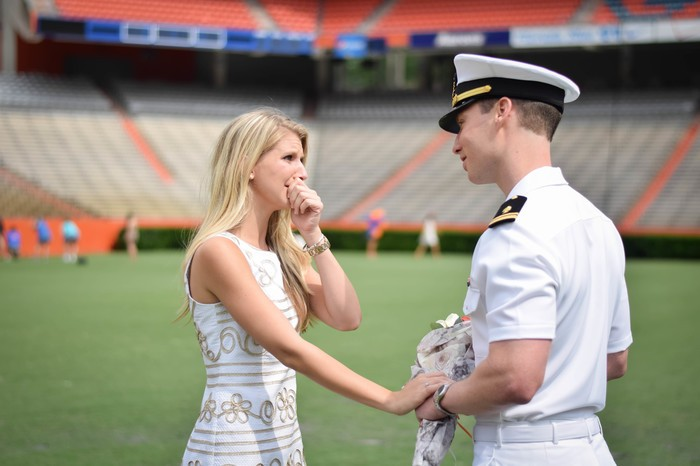Image 7 of Samantha and Maxwell's Proposal on the UF Football Field