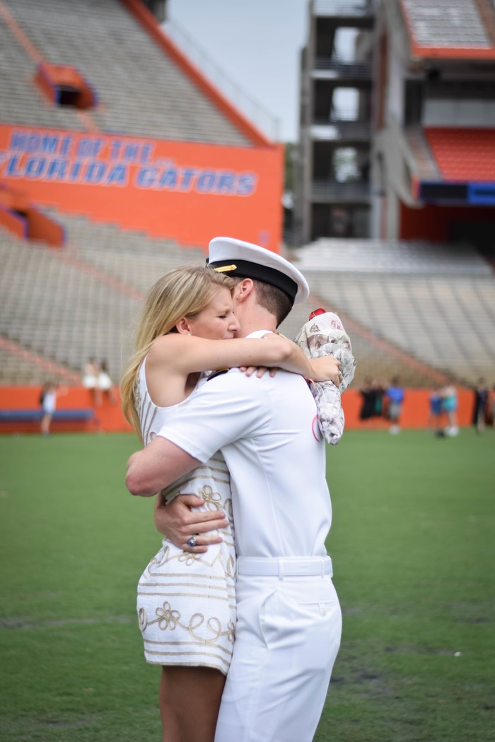 Image 9 of Samantha and Maxwell's Proposal on the UF Football Field