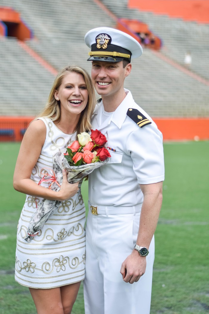 Image 1 of Samantha and Maxwell's Proposal on the UF Football Field