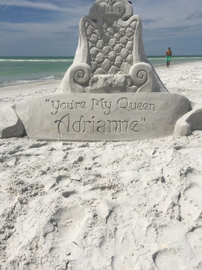 Image 3 of Adrianne and Marcus's Sand Sculpture Marriage Proposal