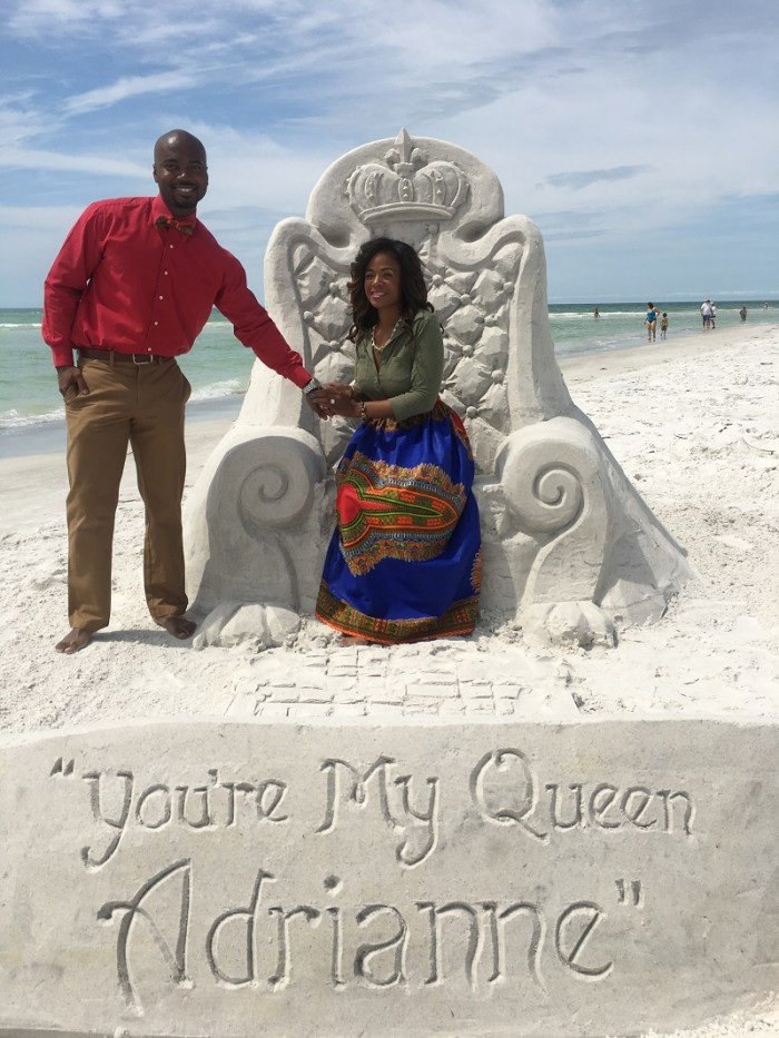Image 6 of Adrianne and Marcus's Sand Sculpture Marriage Proposal
