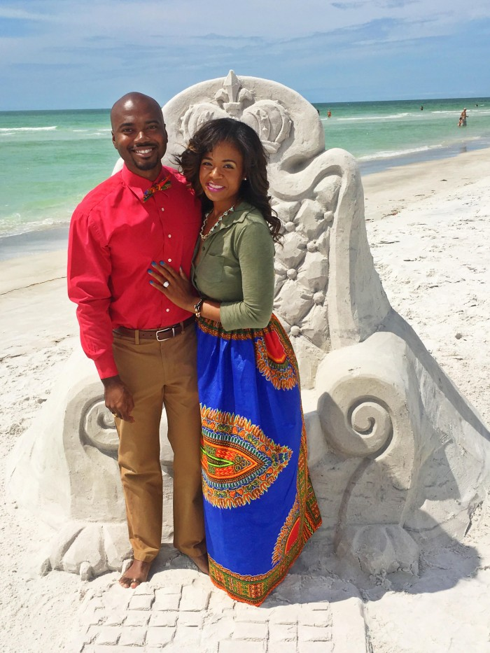 Image 1 of Adrianne and Marcus's Sand Sculpture Marriage Proposal