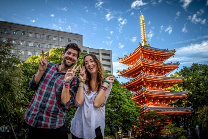 Scott-&-Megan-in-Fukuoka,-japan