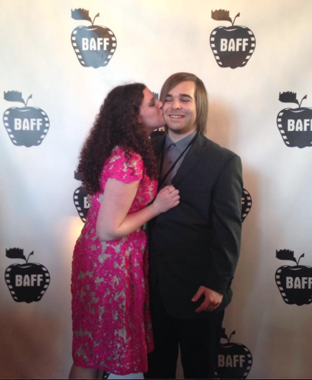 7 months into our relationship, at a film festival for one of his films