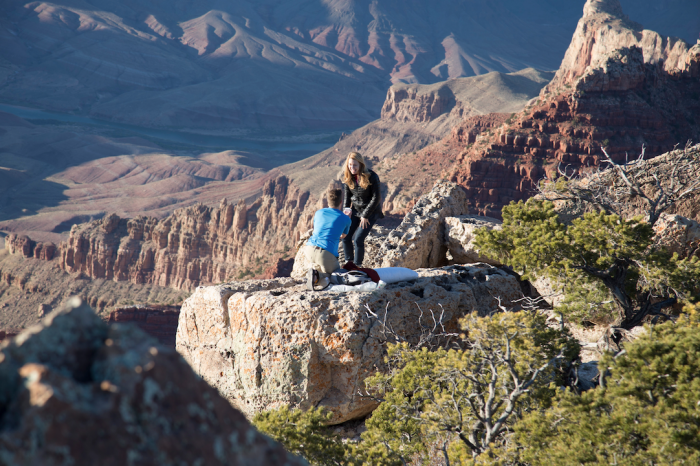 Marriage Proposal Ideas at The Grand Canyon