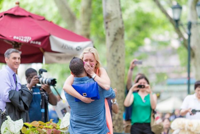 Image 6 of Elizabeth and Michael's Amazing Bryant Park Flash Mob Proposal