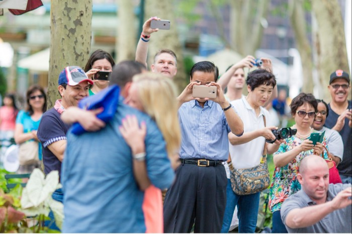 Image 7 of Elizabeth and Michael's Amazing Bryant Park Flash Mob Proposal