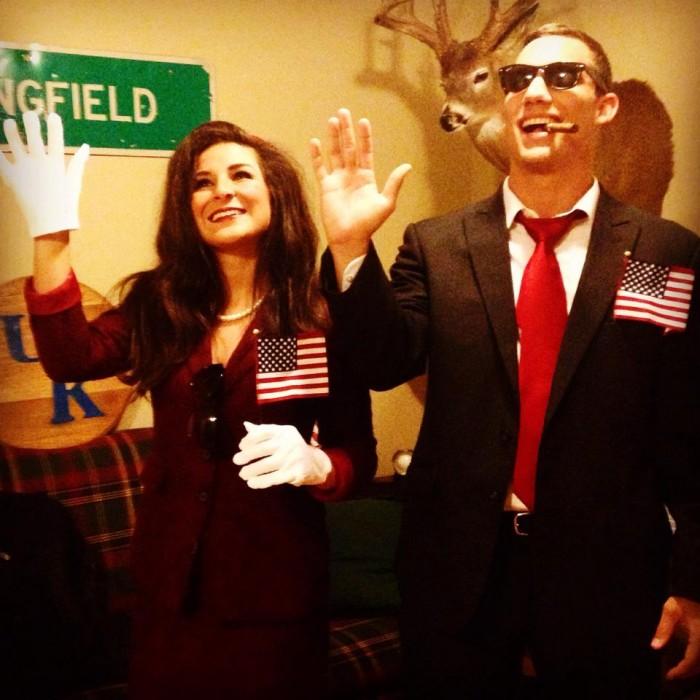 JFK & Jackie on Halloween