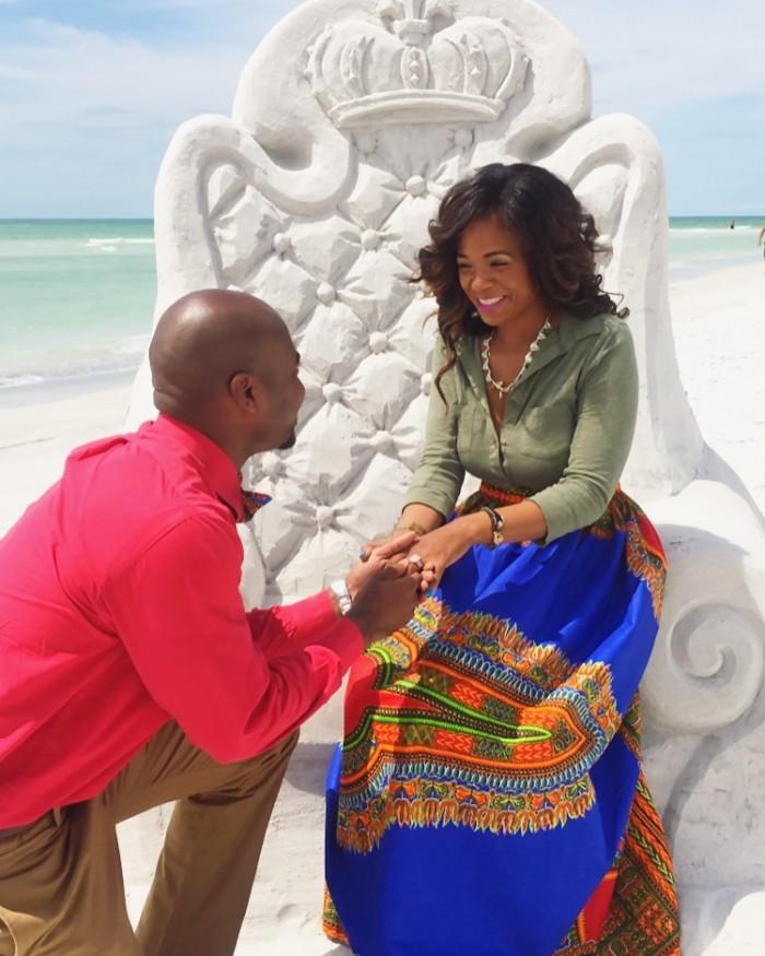 Sand Sculpture Marriage Proposal