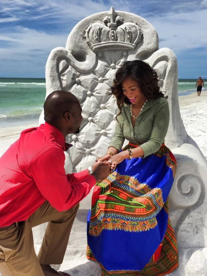 Image 5 of Adrianne and Marcus's Sand Sculpture Marriage Proposal