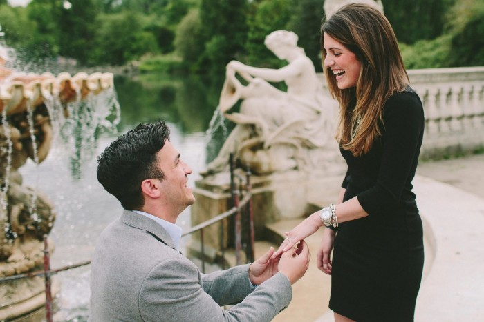 Marriage Proposal in Kensington Gardens