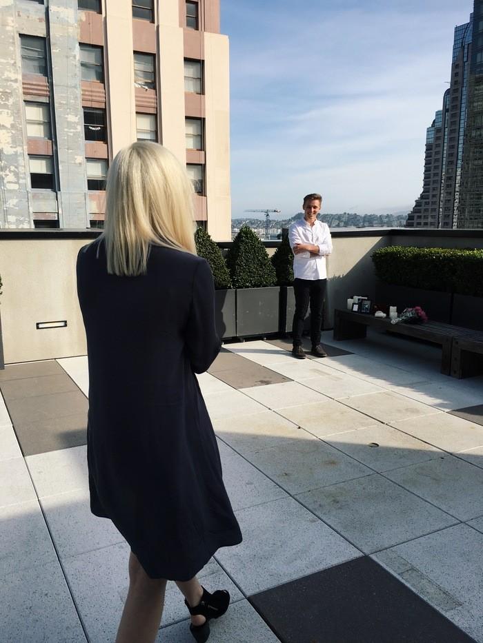 Wedding Proposal Ideas in The Kearny Rooftop in San Francisco