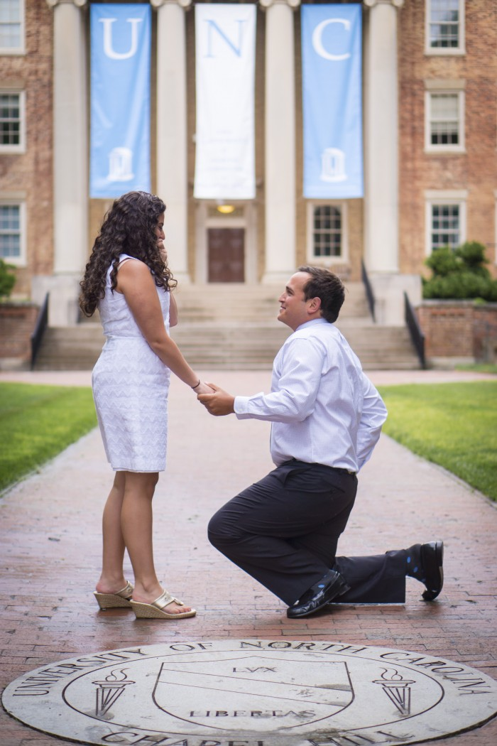 Marriage Proposal at UNC Chapel Hill