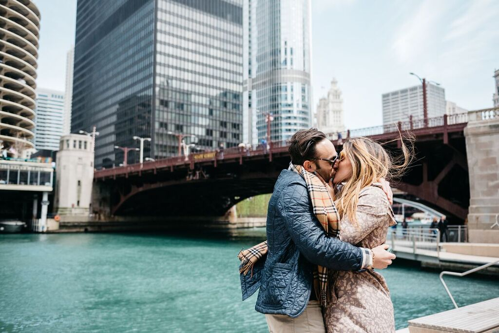 Chicago Riverwalk Marriage Proposal