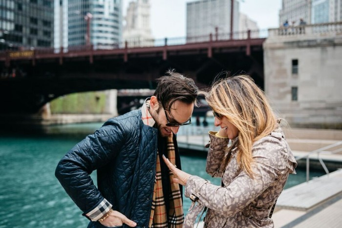 Chicago Riverwalk Marriage Proposal