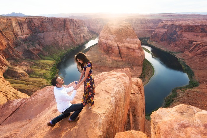 Image 7 of Janki and Narayan's Epic Marriage Proposal at the Grand Canyon