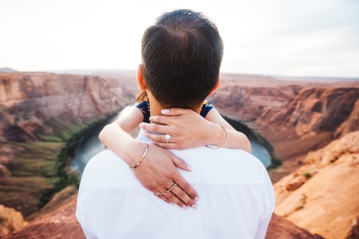 Image 9 of Janki and Narayan's Epic Marriage Proposal at the Grand Canyon