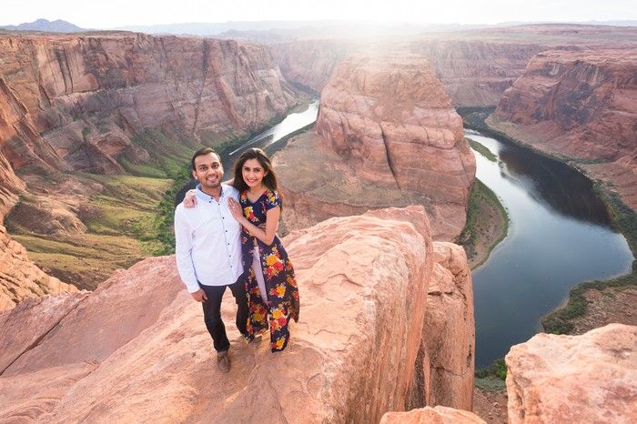 Image 4 of Janki and Narayan's Epic Marriage Proposal at the Grand Canyon