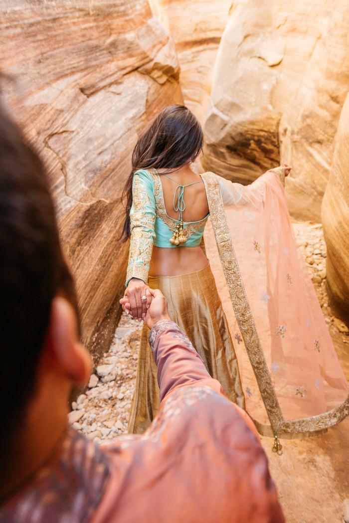 Image 3 of Janki and Narayan's Epic Marriage Proposal at the Grand Canyon