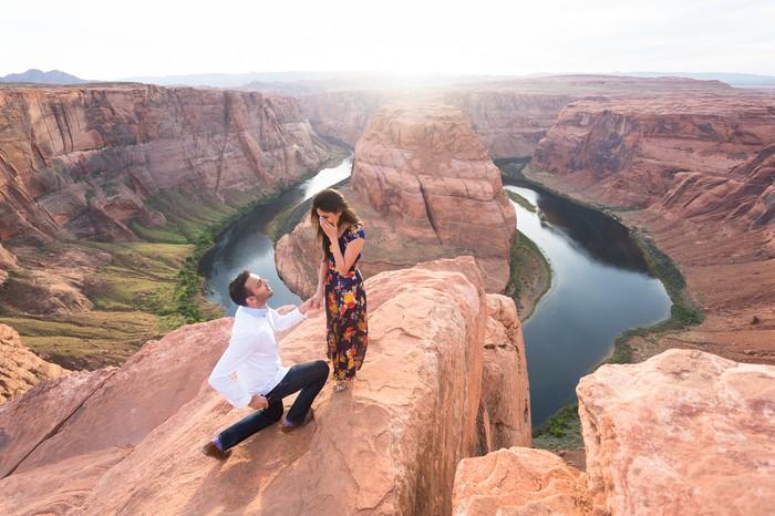 Image 5 of Janki and Narayan's Epic Marriage Proposal at the Grand Canyon