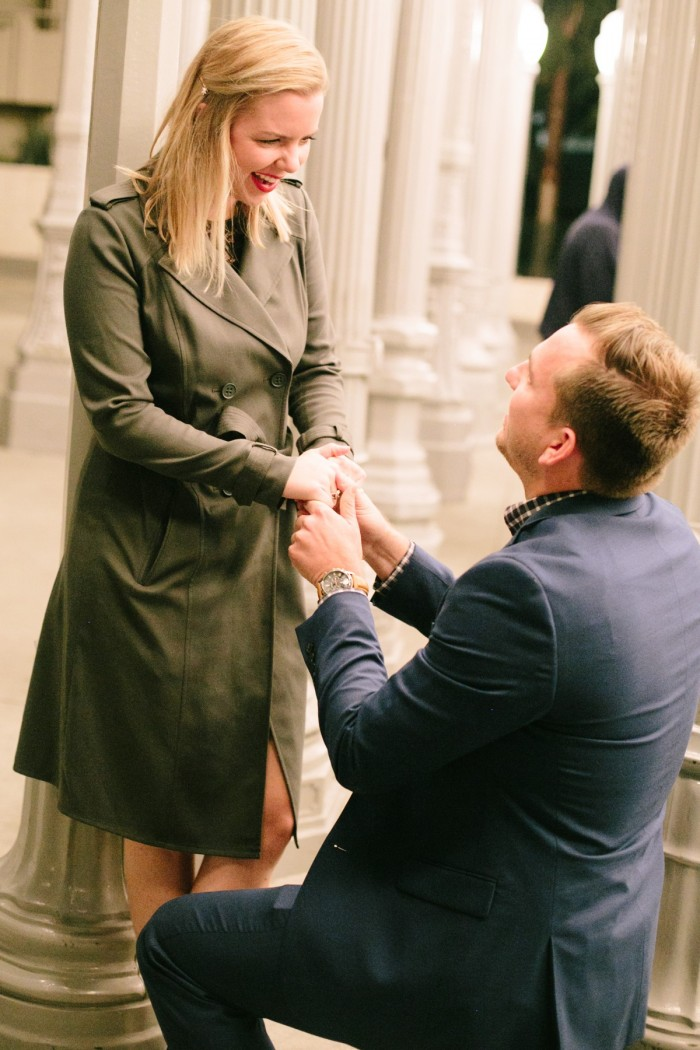 Los Angeles marriage proposal at the LACMA (4)