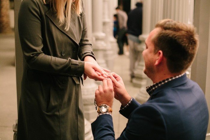 Los Angeles marriage proposal at the LACMA (7)