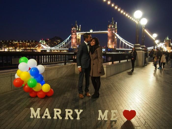 Engagement Proposal Ideas in Tower Bridge - London