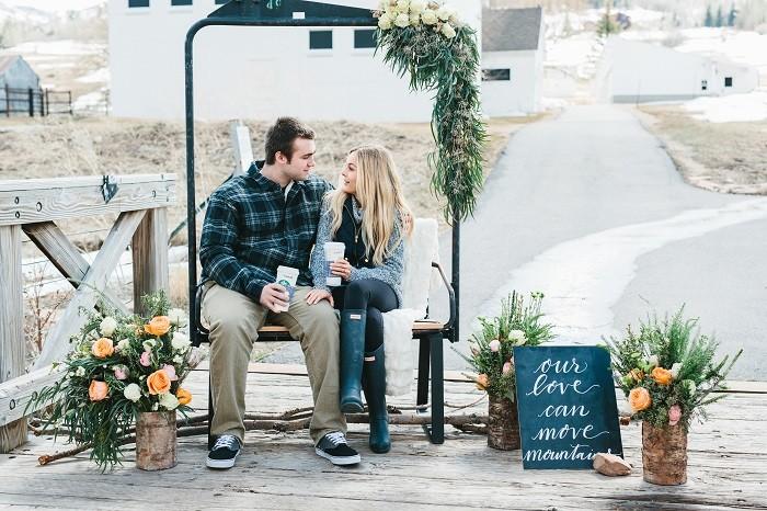 Image 1 of Jordan and Logan's Park City Marriage Proposal