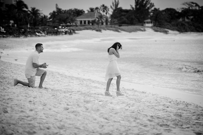 Proposal in the Bahamas