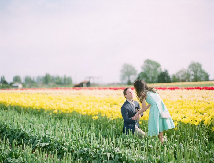 Image 2 of David and Sofia's Sweet Proposal in a Tulip Field