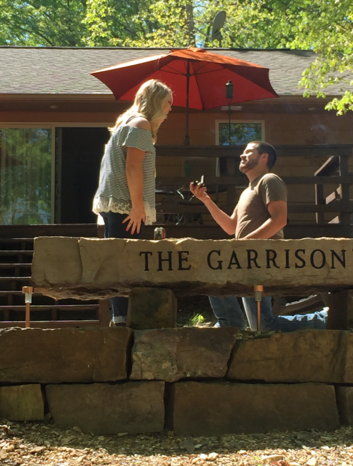 Engagement Proposal Ideas in At his parents lake house, where we've spent most of our summers each year!