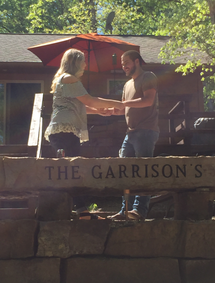 Janey and Mackenzie's Engagement in At his parents lake house, where we've spent most of our summers each year!