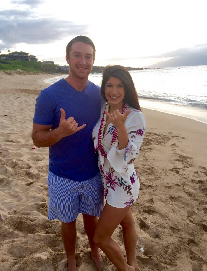 Candice And Corys Hawaiian Beach Proposal Engagement1
