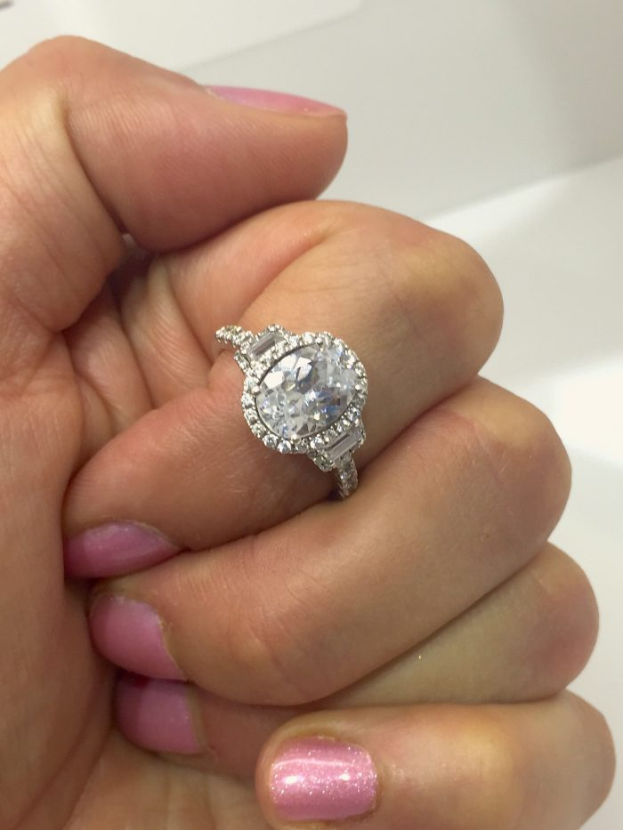 sylvie collection engagement ring oval