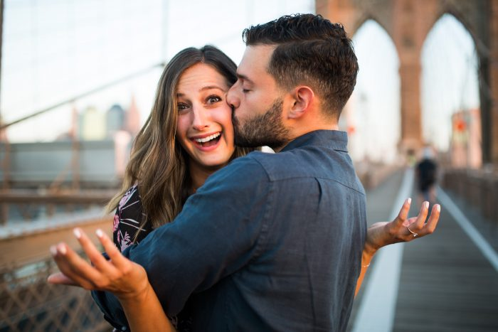 Image 10 of Marisa and Alex's Sunrise Proposal on the Brooklyn Bridge