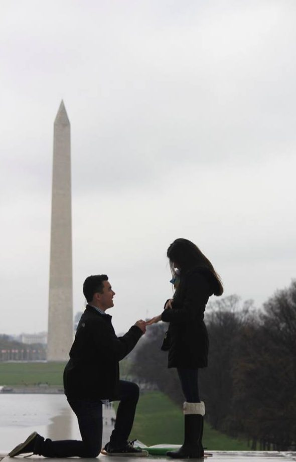 Celeste's Proposal in Lincoln Memorial in Washington DC