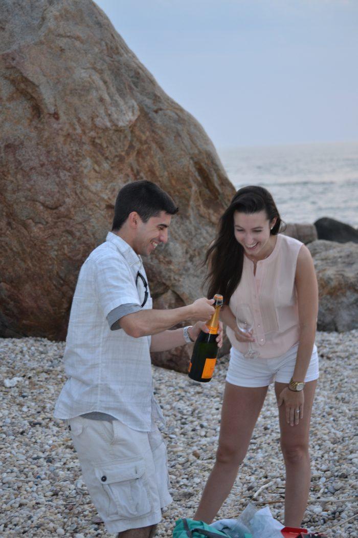 Frank Vanessa Proposal Champagne