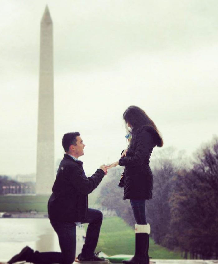 Marriage Proposal Ideas in Lincoln Memorial in Washington DC