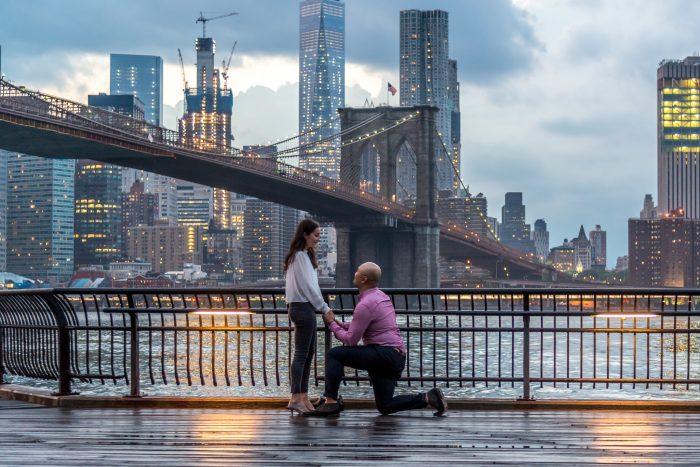 Marriage Proposal at the Brooklyn Bridge