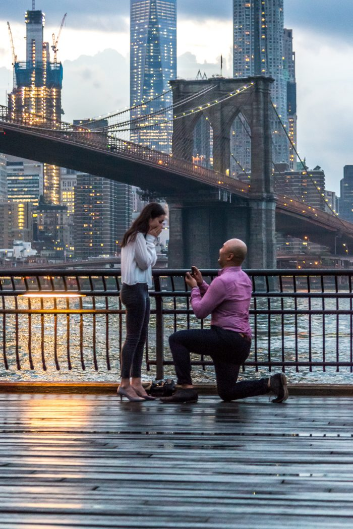 Perfect Marriage Proposal At The Brooklyn Bridge