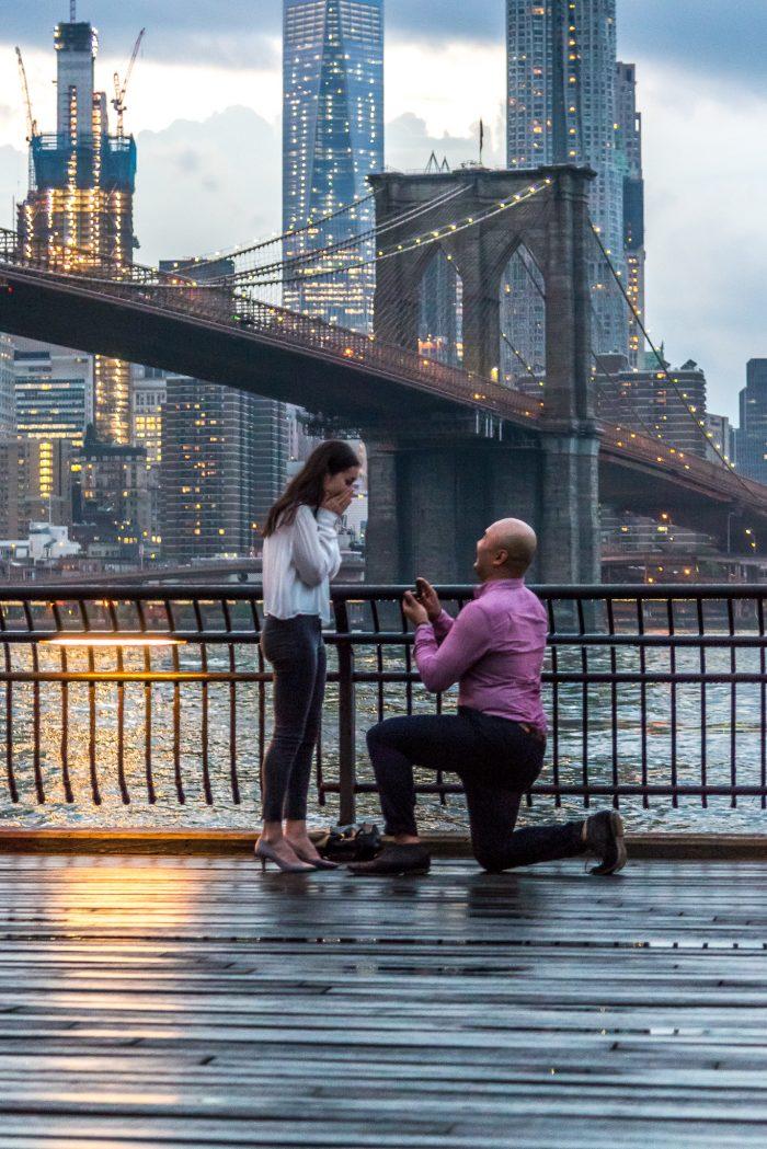 Marriage Proposal Ideas at the Brooklyn Bridge
