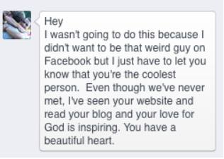 The Facebook Message