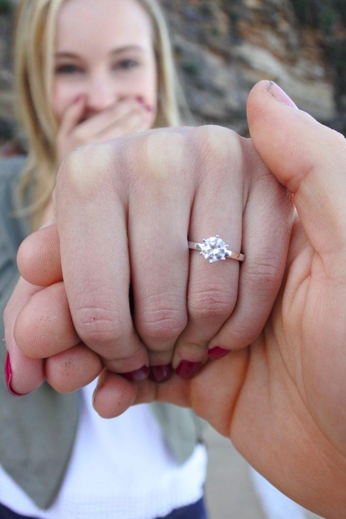 cute engagement anouncement photos