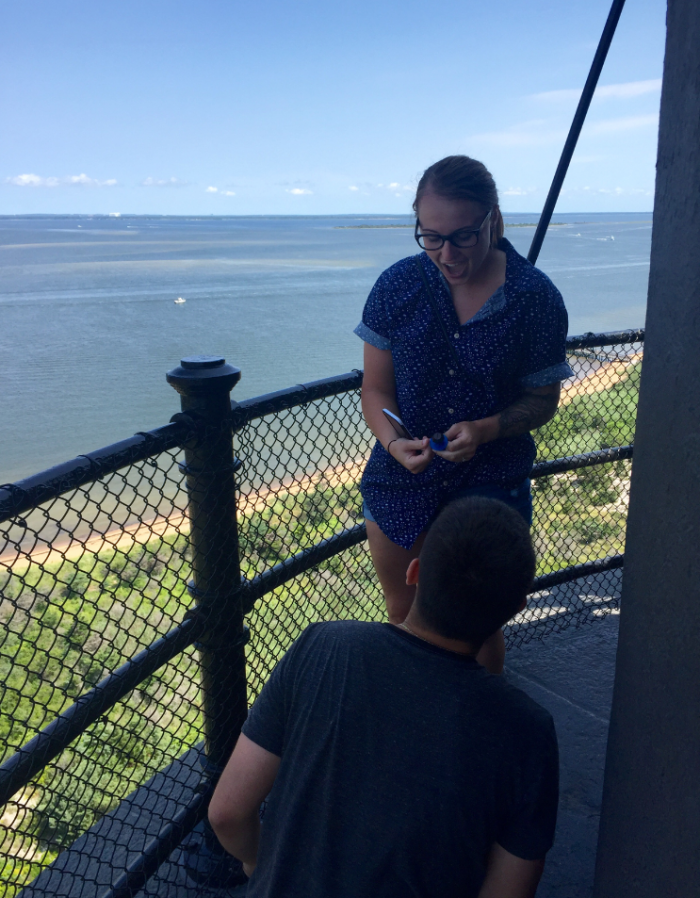 Marriage Proposal Ideas in Fire Island Lighthouse