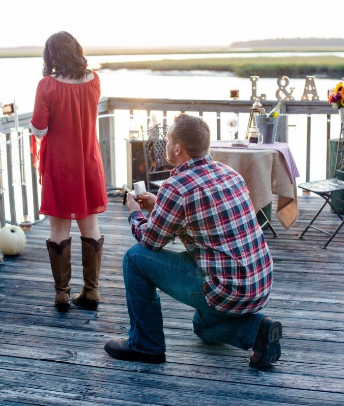 Engagement Proposal Ideas in On a dock in st Mary's Georgia